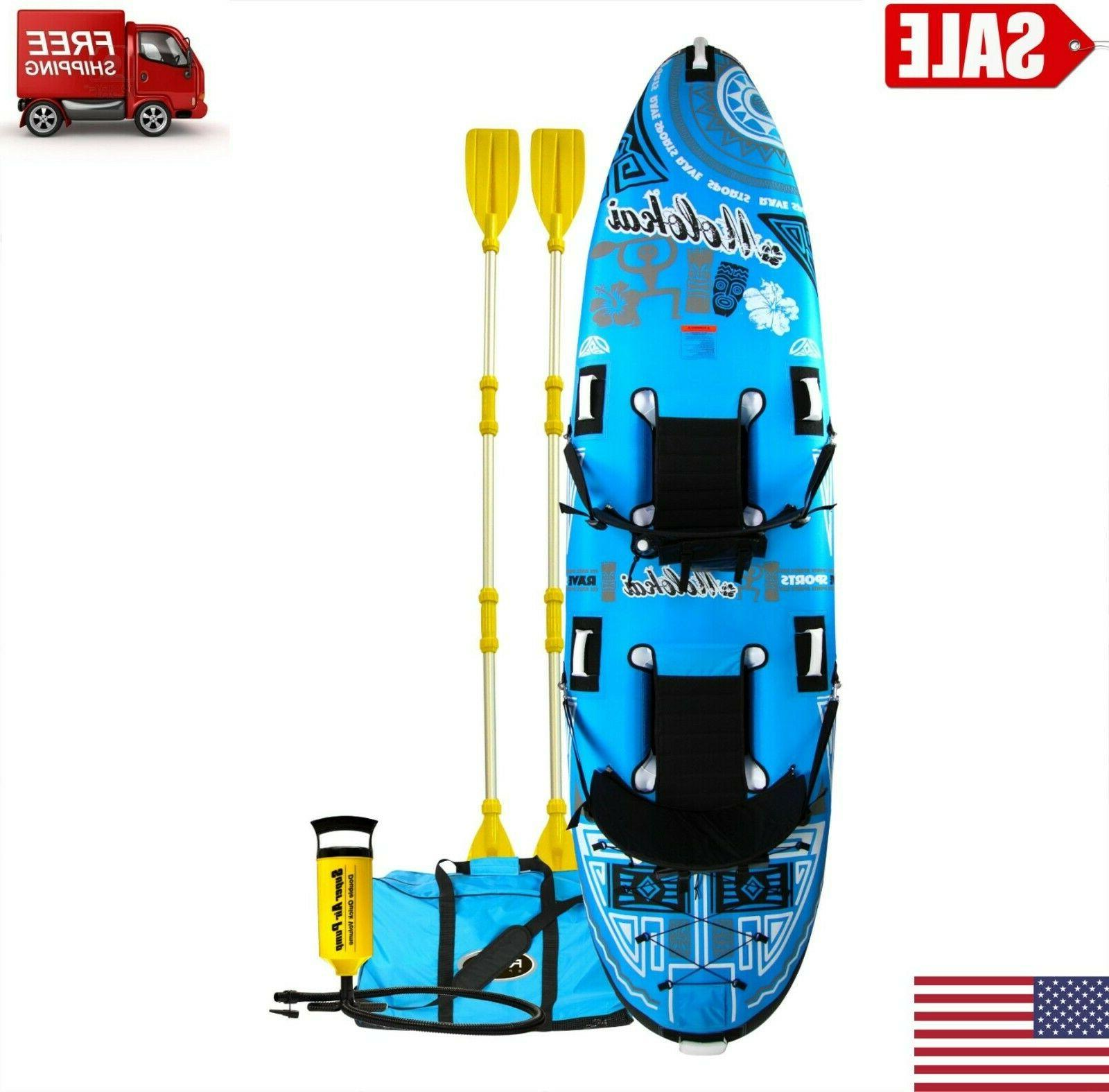 inflatable floating 2 person kayak summer fun