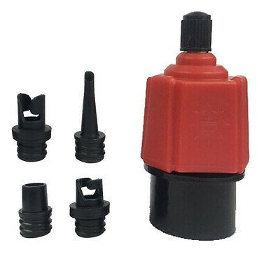 Inflatable Kayak Air Pump Set For Boat Durable Red US
