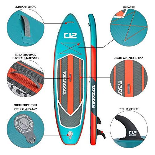 Swonder Premium Stand Up Paddle Durable Steady, 10'6/11'6 Long Thick, Full SUP Paddle | | Pump |Center Fin, Paddling &