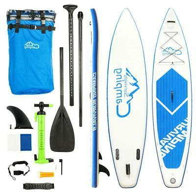 Inflatable Surfing Board SUP 12' Stand Up Paddle Board & Kay
