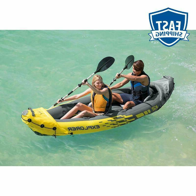 Intex 2-Person Inflatable Set With Hi