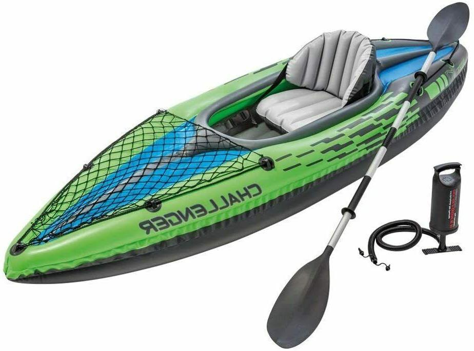 challenger k1 inflatable kayak 1 person w