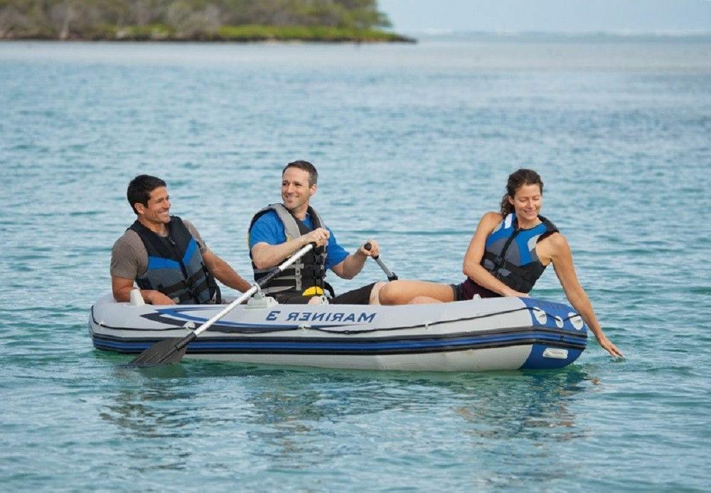 Intex Mariner Inflatable River/Lake Dinghy Boat & Kayak Set NEW