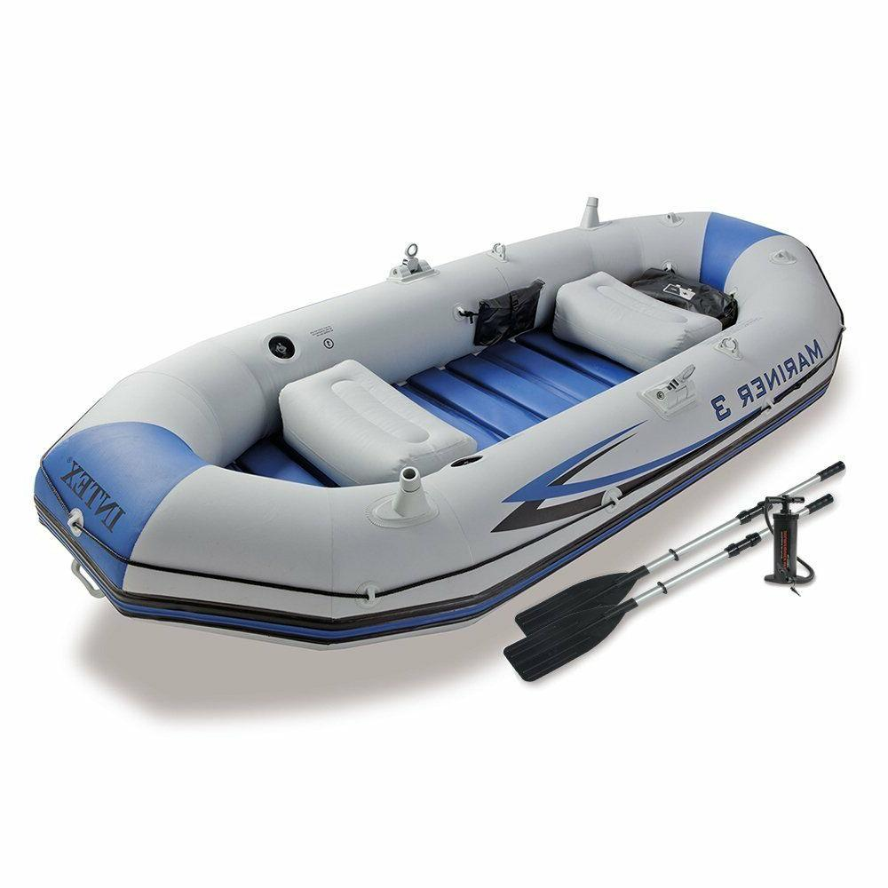 mariner 3 person inflatable river lake dinghy