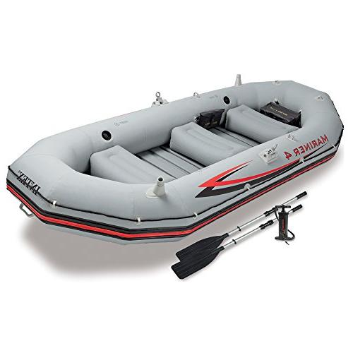 Intex 4, 4-Person Inflatable Boat Set Aluminum Oars