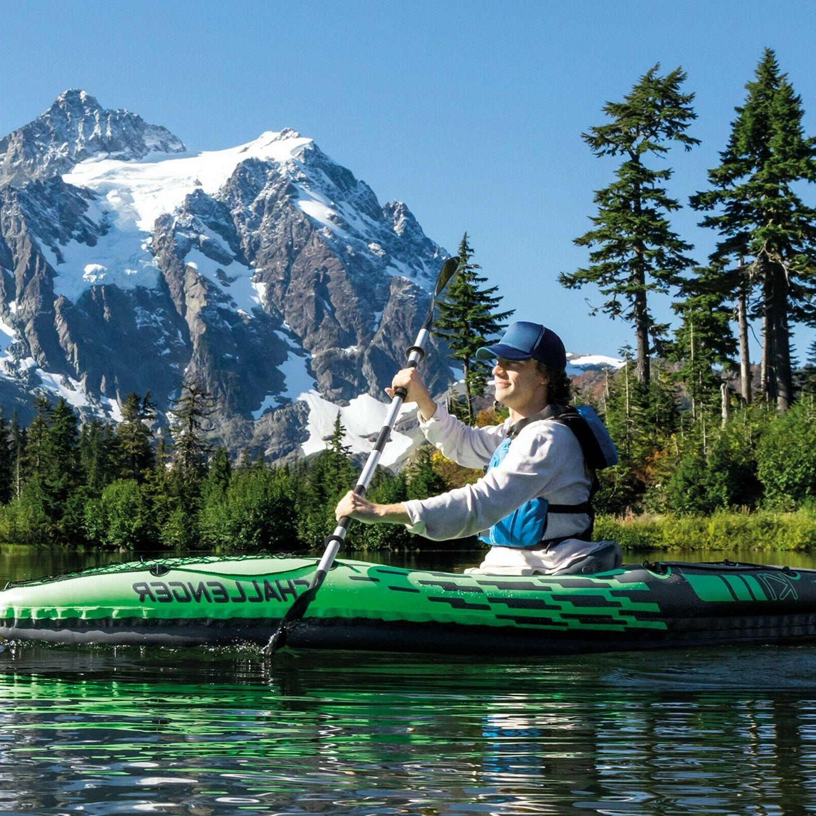 NEW Intex Challenger Inflatable w/ Air Paddle Oar