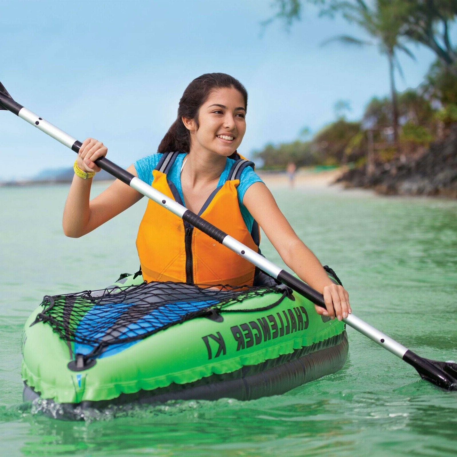 Inflatable 1-Person w/ Paddle Oar