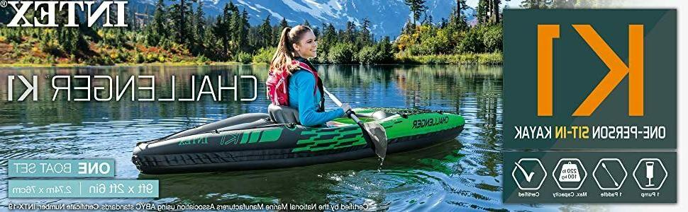 new challenger k1 inflatable kayak 1 person