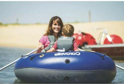 New Sevylor 200 Heavy-Duty PVC Blue Inflatable Boat