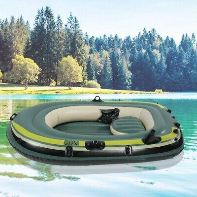 Heavy Duty 2Person Rowing Inflatable Air Boat Kayak Fishing