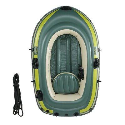 Heavy 2Person Rowing Inflatable Air Boat Fishing