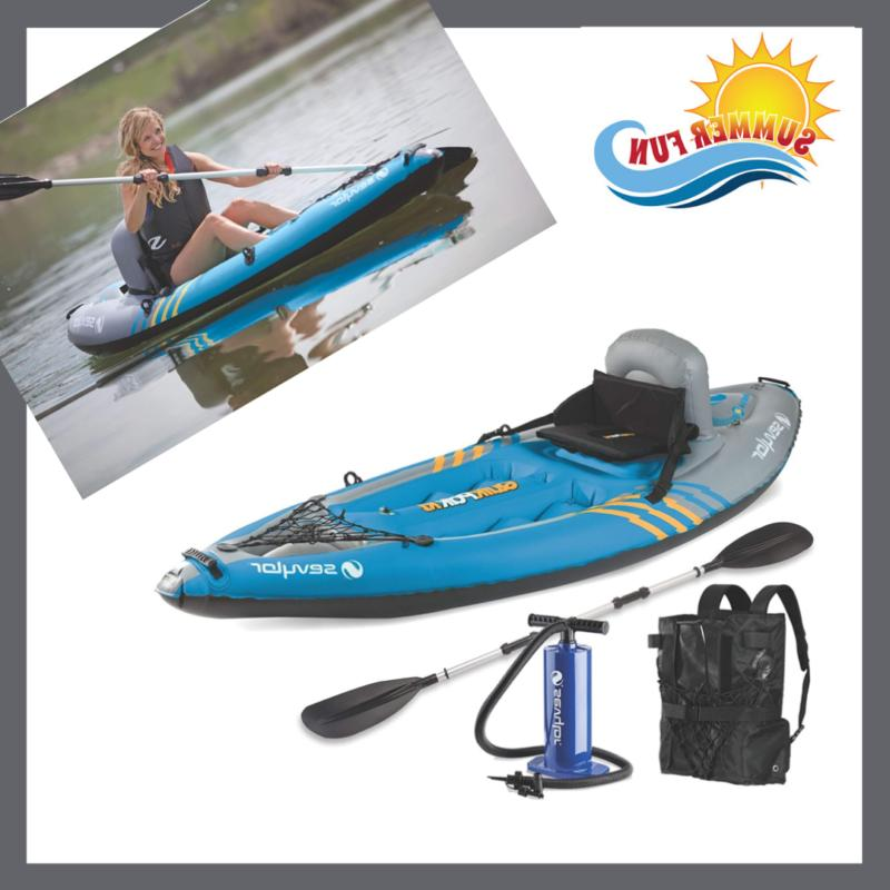 Sevylor Quikpak 1-Person Kayak Hit the water in as little as
