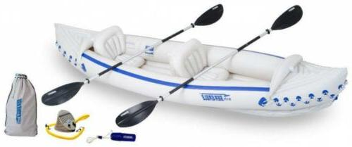se370 inflatable sport kayak deluxe package