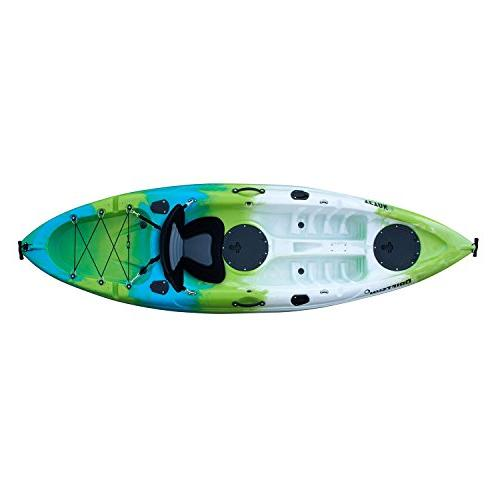 Driftsun Shell Recreational Person On Top Kayak with EVA Padded Seat, Paddle and Fishing Holder