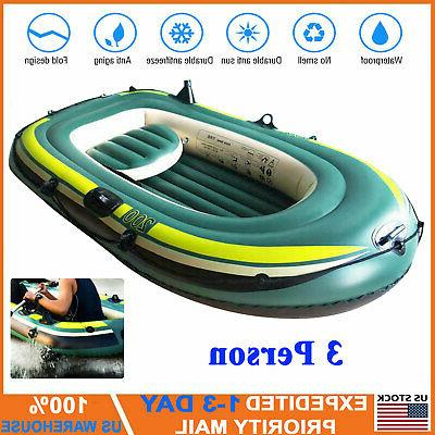 three person inflatable kayak canoe rowing air