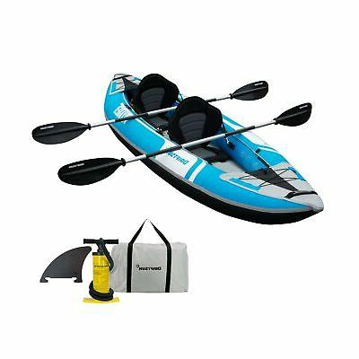 voyager 2 person tandem inflatable kayak includes