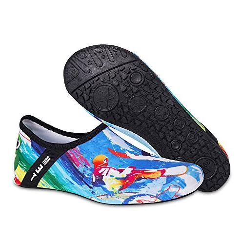Womens and Mens Shoes Barefoot Quick-Dry Aqua Socks for Surf Yoga Exercise