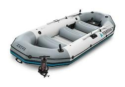 Intex Mariner 4, 4-Person Inflatable Boat Set with Aluminum