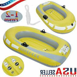 NEW 1-2 Person PVC Inflatable Kayak Dinghy Fishing Boat Raft