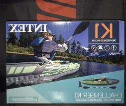 New Intex 68305EP Challenger K1 Inflatable Kayak with Oar an