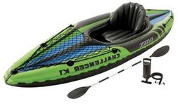 NEW Intex Challenger K1 Inflatable 1-Person Kayak Set w/ Air