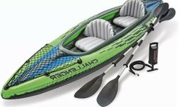 New Intex Challenger K2 Inflatable Kayak 2 Person Raft Boat