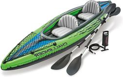NEW Intex Challenger K2 Inflatable Kayak Set w/ Oars And Air