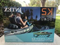 NEW Intex Challenger K2 Kayak 2-Person Inflatable Set w Oars