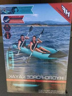 NEW HYDRO-FORCE 12.7 INFLATABLE KAYAK  2 PERSON PADDLES CASE