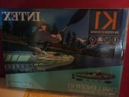 NEW Intex One Person Challenger K1 Inflatable Kayak Kit With