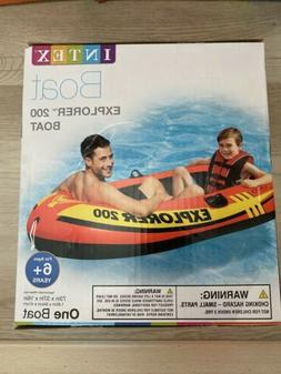 NIB INTEX Explorer 200 Inflatable Pool Lake Boat Water Raft