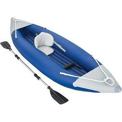 Ozark Trail 1-Person Bolt Inflatable Kayak with Dual-Bladed