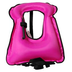 Isafish Portable Inflatable Life vest Safety Kayak Diving Li