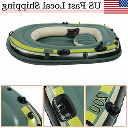 PVC Inflatable 2 Person Water Fishing River Raft Boat Drifti