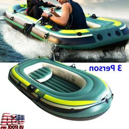 pvc inflatable three person boat kayak canoe