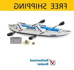 Sea Eagle Fast Track Inflatable Kayak with Deluxe Accessory