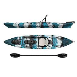 Vibe Sea Ghost 130 13' Fishing Kayak + Paddle - Blue Camo