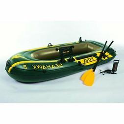 Intex Seahawk 2, 2-Person Inflatable Boat Set with French Oa