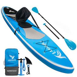 Freein Stand Up Paddle Board Inflatable SUP 10' Long  Whit