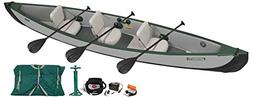 tc16 inflatable canoe 3 person