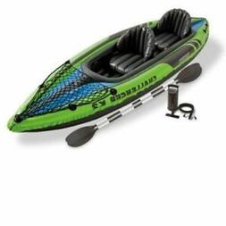 Intex Two Person Challenger K2 Inflatable Kayak Kit Oars & P