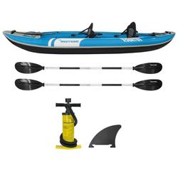 Driftsun Voyager 2 Person Inflatable Kayak Paddles Seats Fis