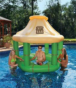 water inflatable floating tropical tiki