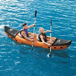Bestway X2 Inflatable Kayak 2 Person Floating Canoe Raft w/