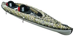 BIC Sport YAKKAIR HP2 Inflatable Kayak, Camo/Grey/Fishing, 1